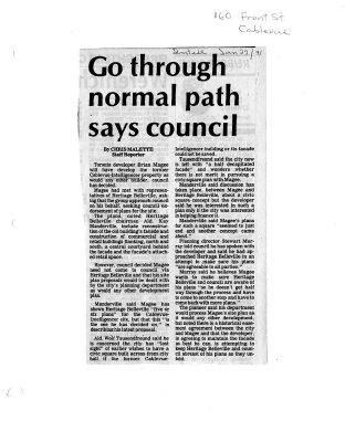 Go through normal path says council