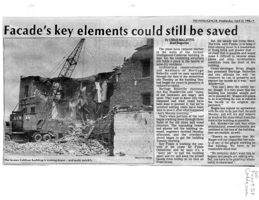 Facade's key elements could still be saved