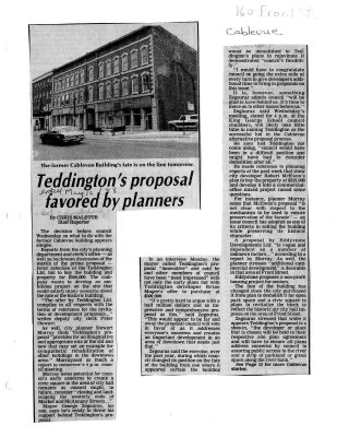 Teddington's proposal favored by planners