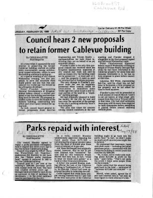 Council hears 2 new proposals to retain former Cablevue building