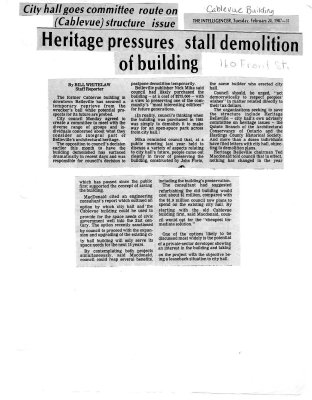 Heritage pressures stall demolition of building