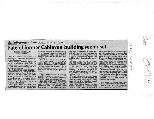Fate of former Cablevue building seems set