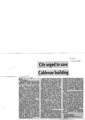 City urged to save Cablevue building