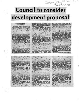 Council to consider development proposal