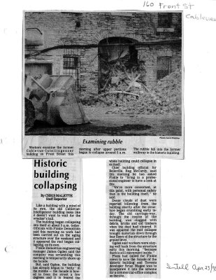 Historic building collapsing