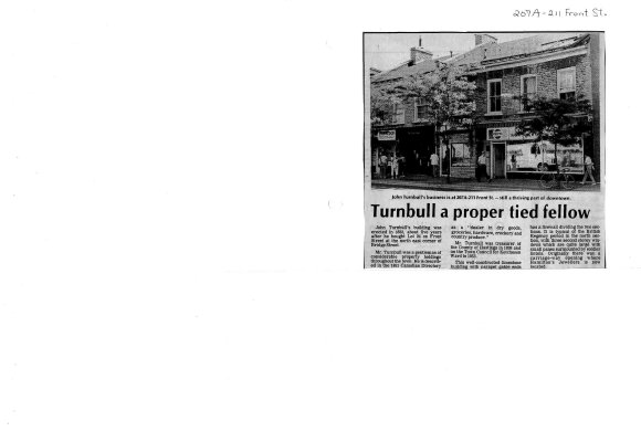 Turnbull a proper tied fellow
