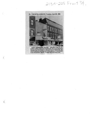 East Robertson Block: 213A-225 Front st. E.