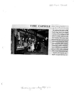Time capsule: 223 Front Street