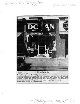 Time capsule: Dolan the Druggist, 256 Front Street