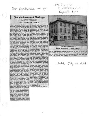 Our Architectural Heritage: the Reynold's Block