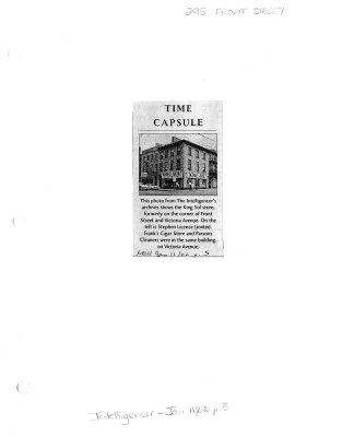 Time capsule: 295 Front St.