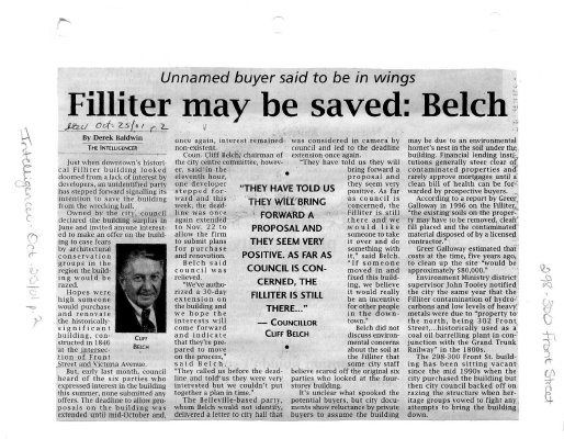 Filliter may be saved: Belch