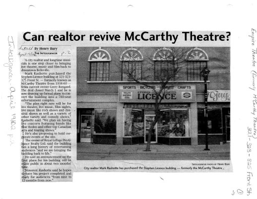 Can realtor revive McCarthy Theatre?