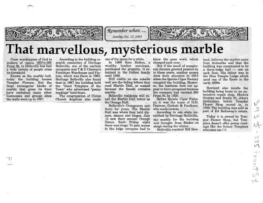 That marvellous, mysterious marble