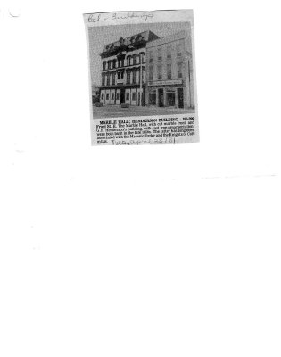 Marble Hall: henderson Building: 395-399 Front St. E