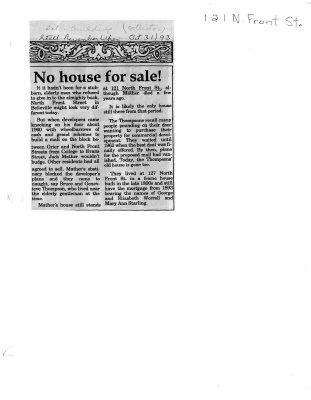 Remember when: No house for sale!