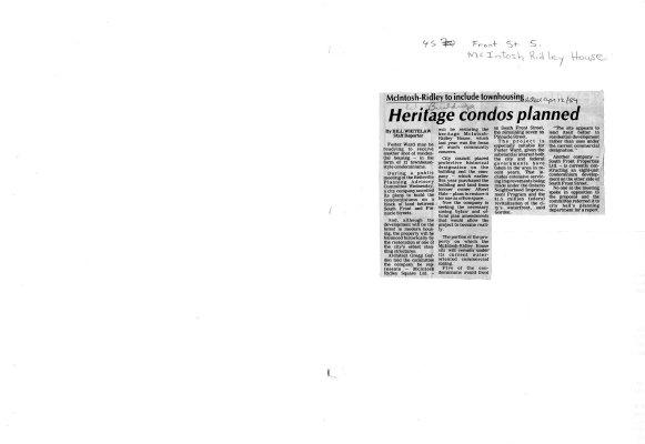 Heritage condos planned