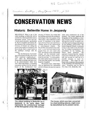 Conservation News: Historic Belleville home in jeopardy