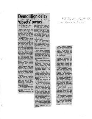 Demolition delay upsets owner: 45 S.Front St.