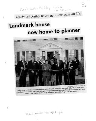 Landmark house now home to planner