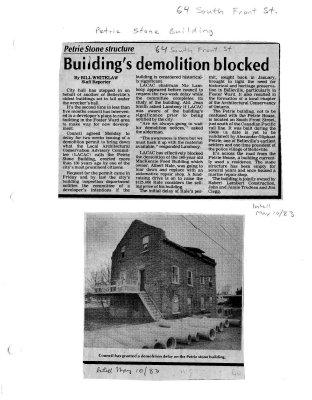 Building's demolition blocked