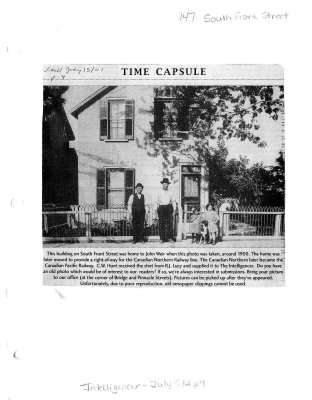 Time capsule: 147 South Front St.