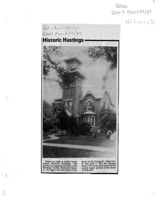 Historic Hastings: 161 George st.