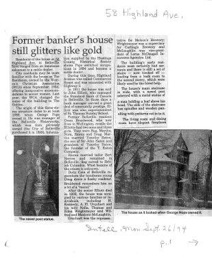 Former banker's house still glitters like gold