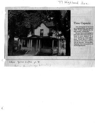 Time capsule: 77 Highland Avenue