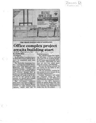 Office complex project awaits building start: James Street