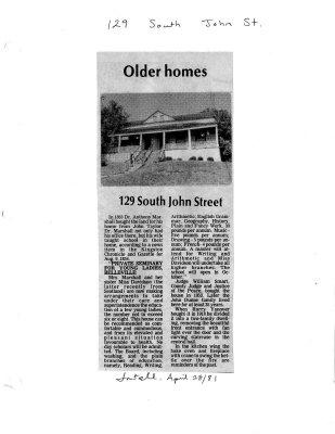 Older homes: 129 South John Street