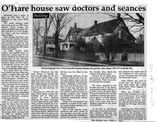 O'Hare house saw doctors and seances