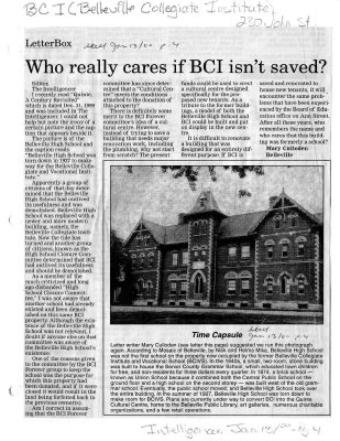 Who really cares if BCI isn't saved?