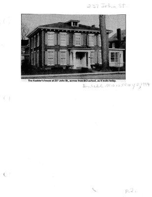 237 John Street: The Kuebler's house