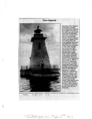 Time capsule: light house