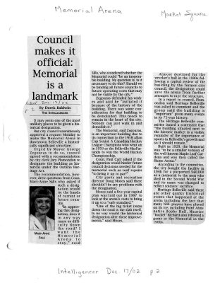 Council makes it official: Memorial is a landmark