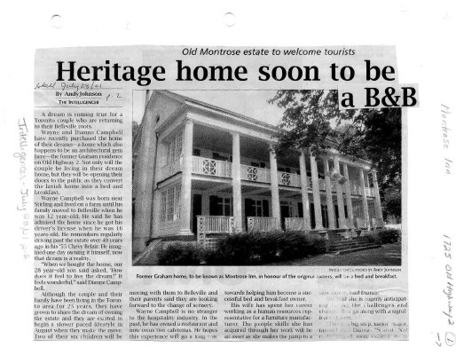 Heritage home soon to be a B&B