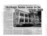 Heritage home soon to be a BB