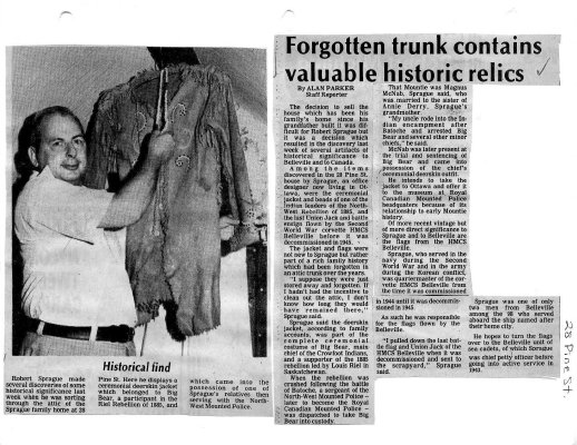 Forgotten trunk contains valuable historic relics