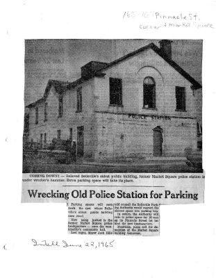 Wrecking old Police Station for parking