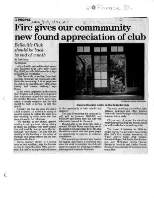 Fire gives our community new found appreciation of club