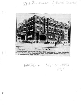 Hotel Quinte: 211 Pinnacle Street