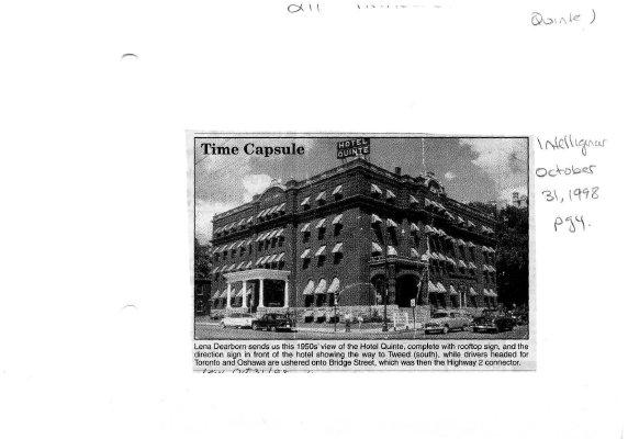 Time capsule: the Quinte Hotel