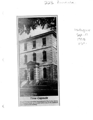 Time capsule: Corby Library