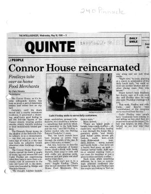 Connor House, reincarnated