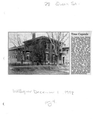 Time capsule: 28 Queen st.
