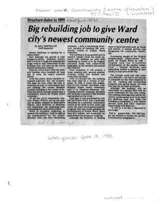 Big rebuilding job to give Ward city's newest community centre
