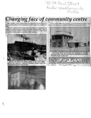 Changing face of commuinity centre