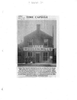 Time capsule: City Woolen Mills