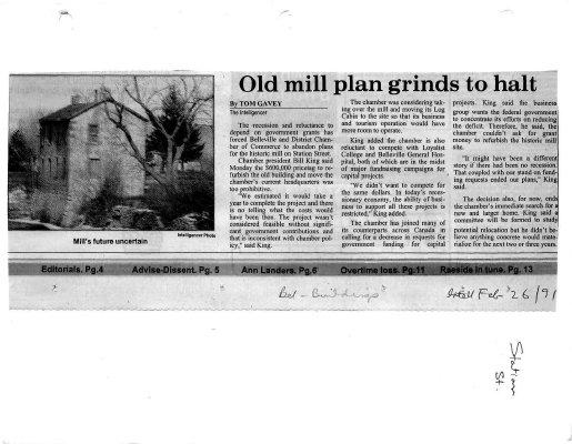 Old Mill plan grinds to halt